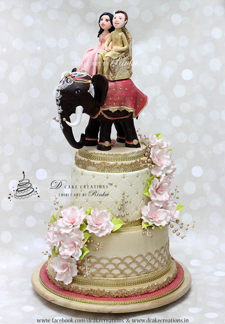 Indian Elephant Wedding Cake Cakecentral Com