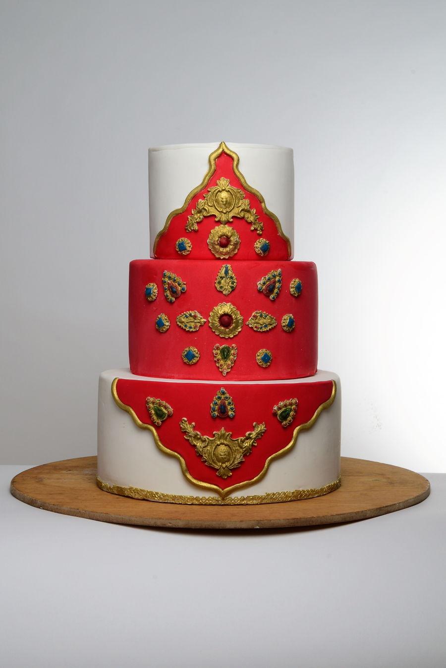 Indian Wedding Cake  CakeCentralcom ~ 221321_Cake Decorating Ideas India