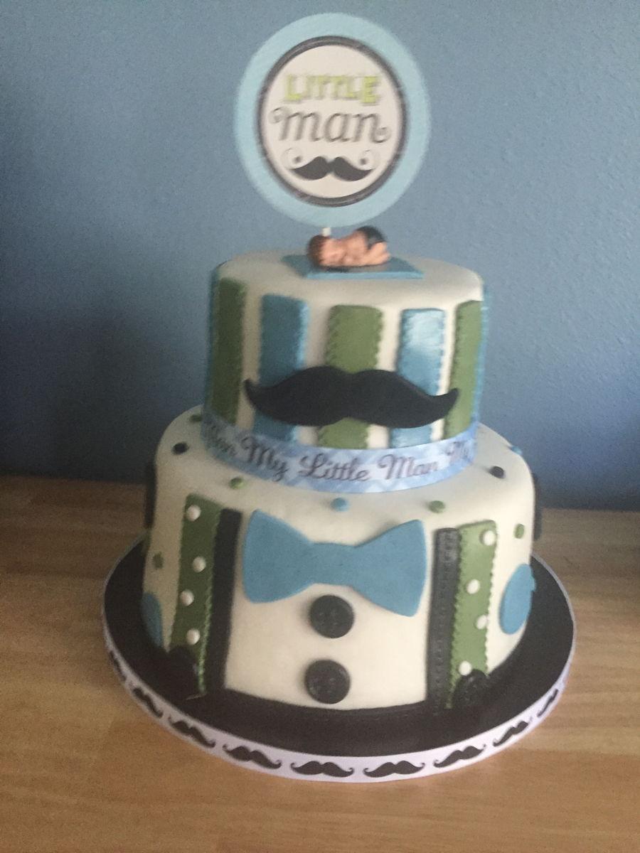 little man baby shower cake on cake central