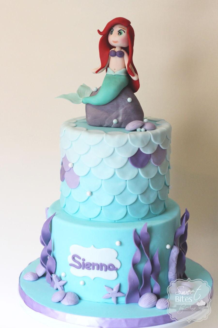 Little Mermaid Birthday Cake - CakeCentral.com