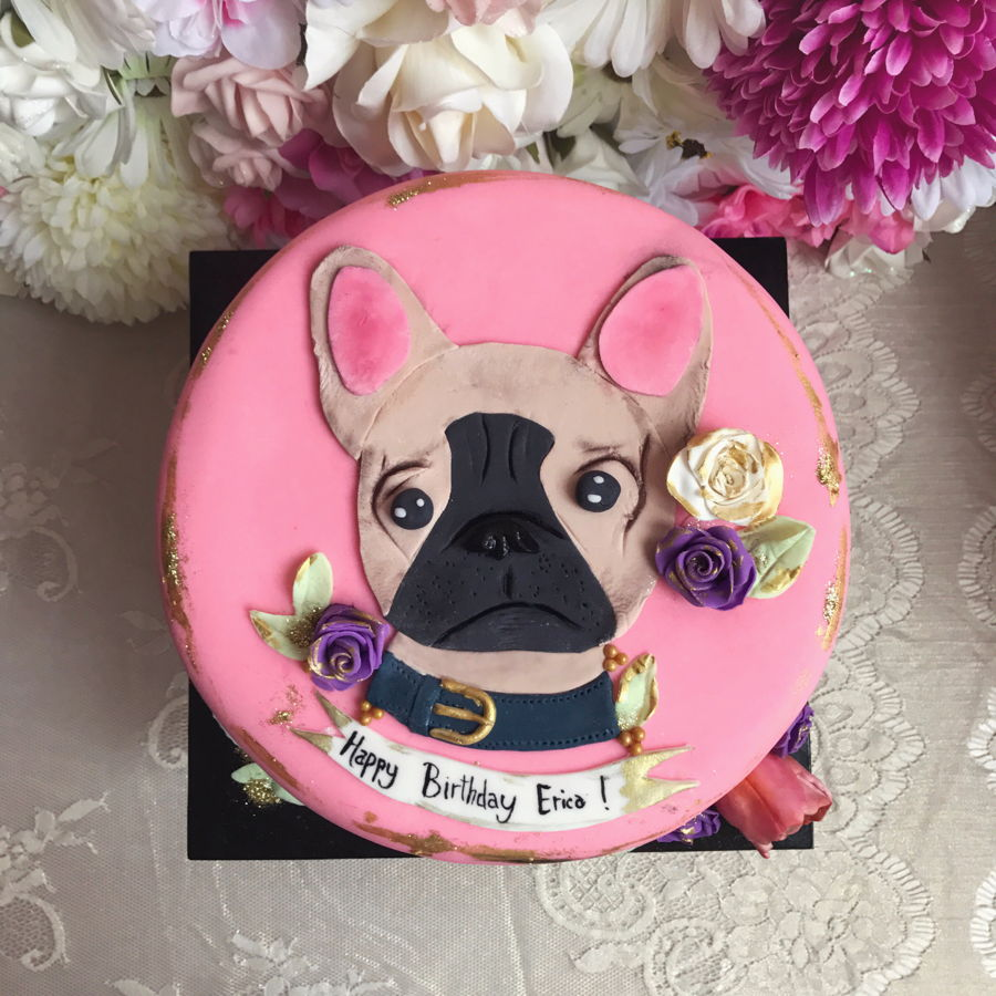 Lola The French Bull Dog Cake Cakecentral Com