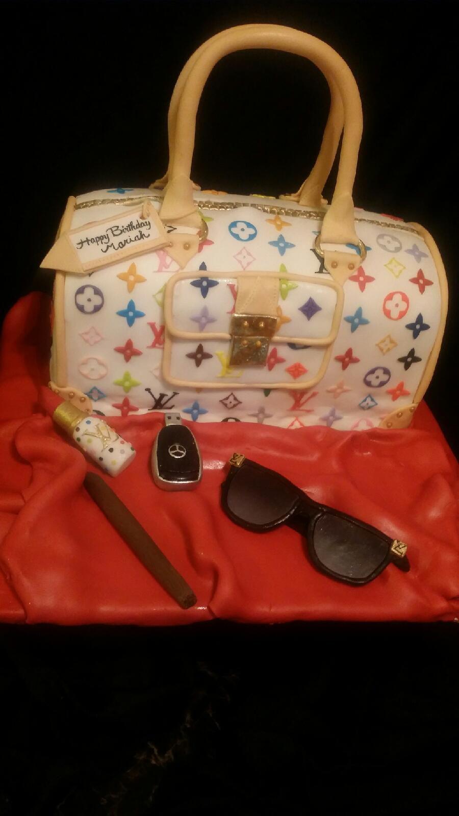 Louis Vuitton Purse Cake Edible Image