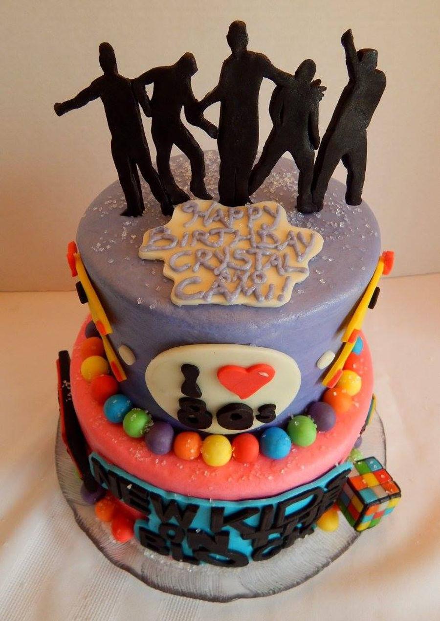 New Kids On The Block 80 S Themed Birthday Cake