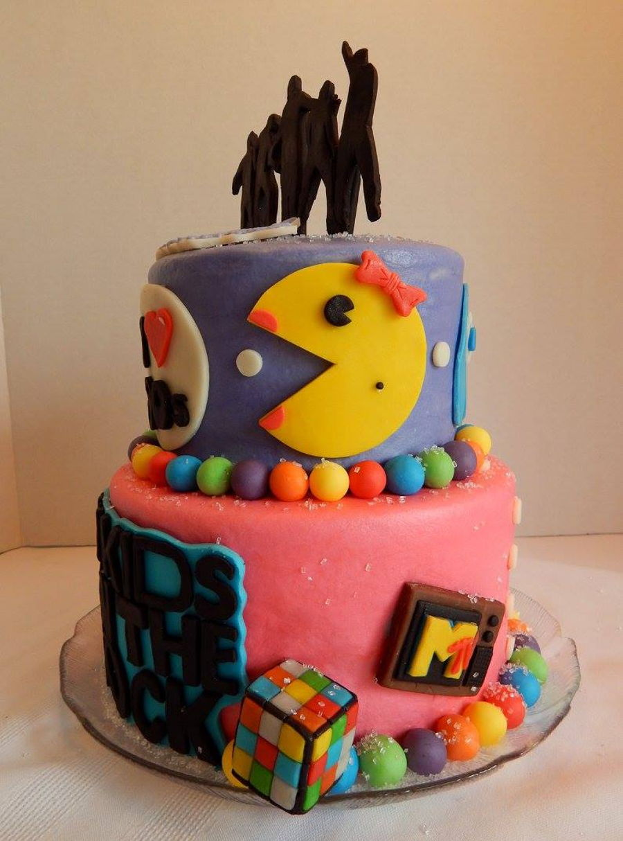New Kids On The Block 80 S Themed Birthday Cake