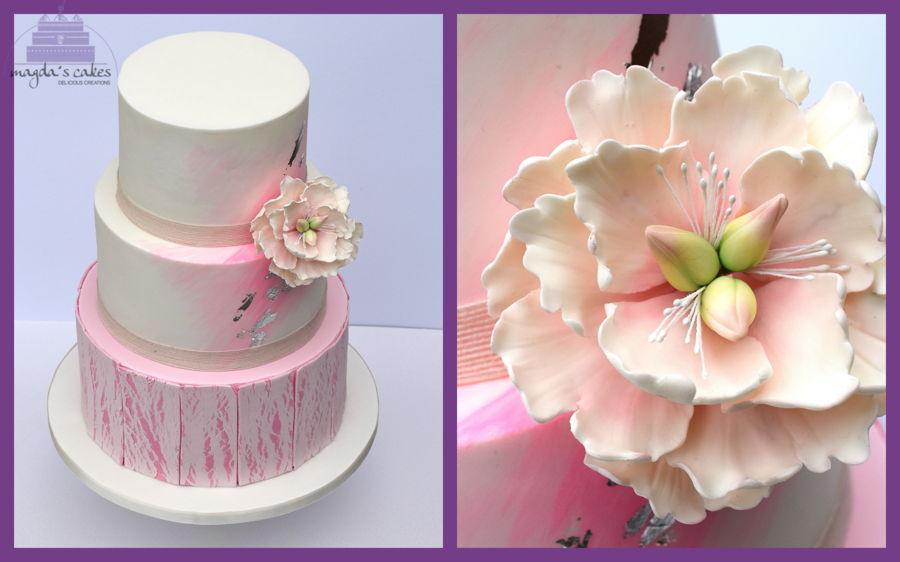 Cake Decorating Central Opening Hours : Open Peony And Crackled Effect - CakeCentral.com