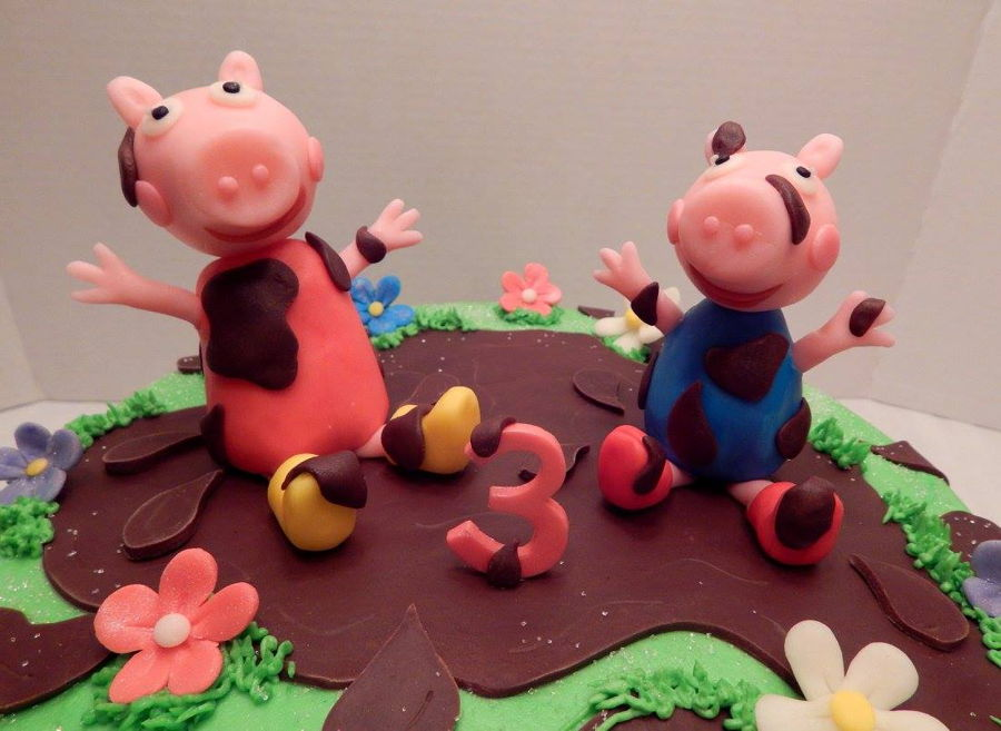 Peppa Pig Mud Puddles Cake Cakecentral Com