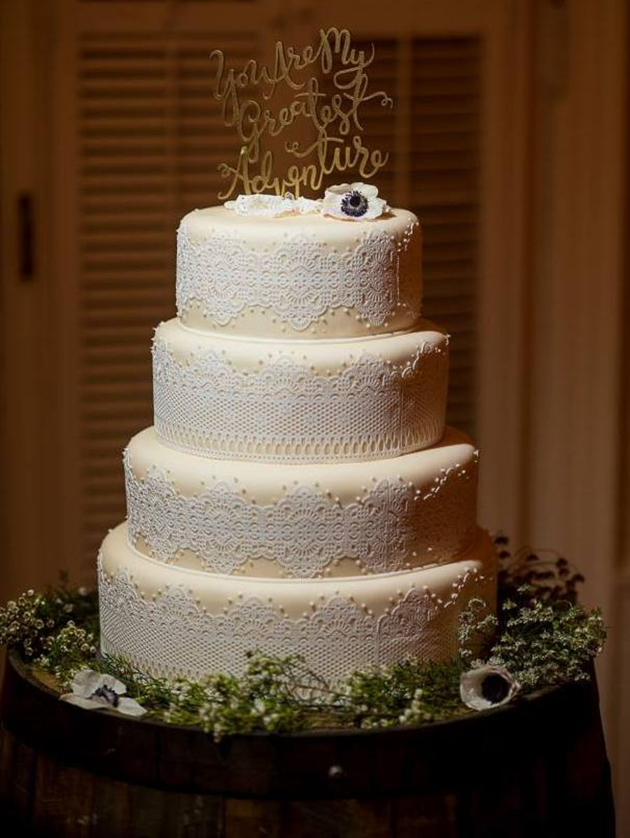 rustic lace wedding cake rustic lace wedding cake cakecentral 19507