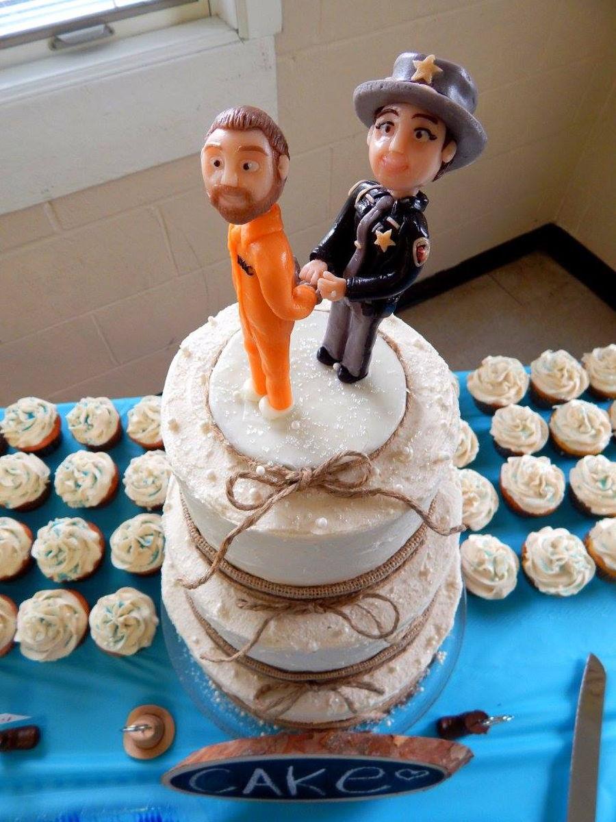 Rustic Police Officer Wedding Cake Cakecentral Com