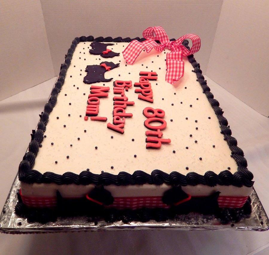 Scottie Dog Sheet Cake - CakeCentral.com