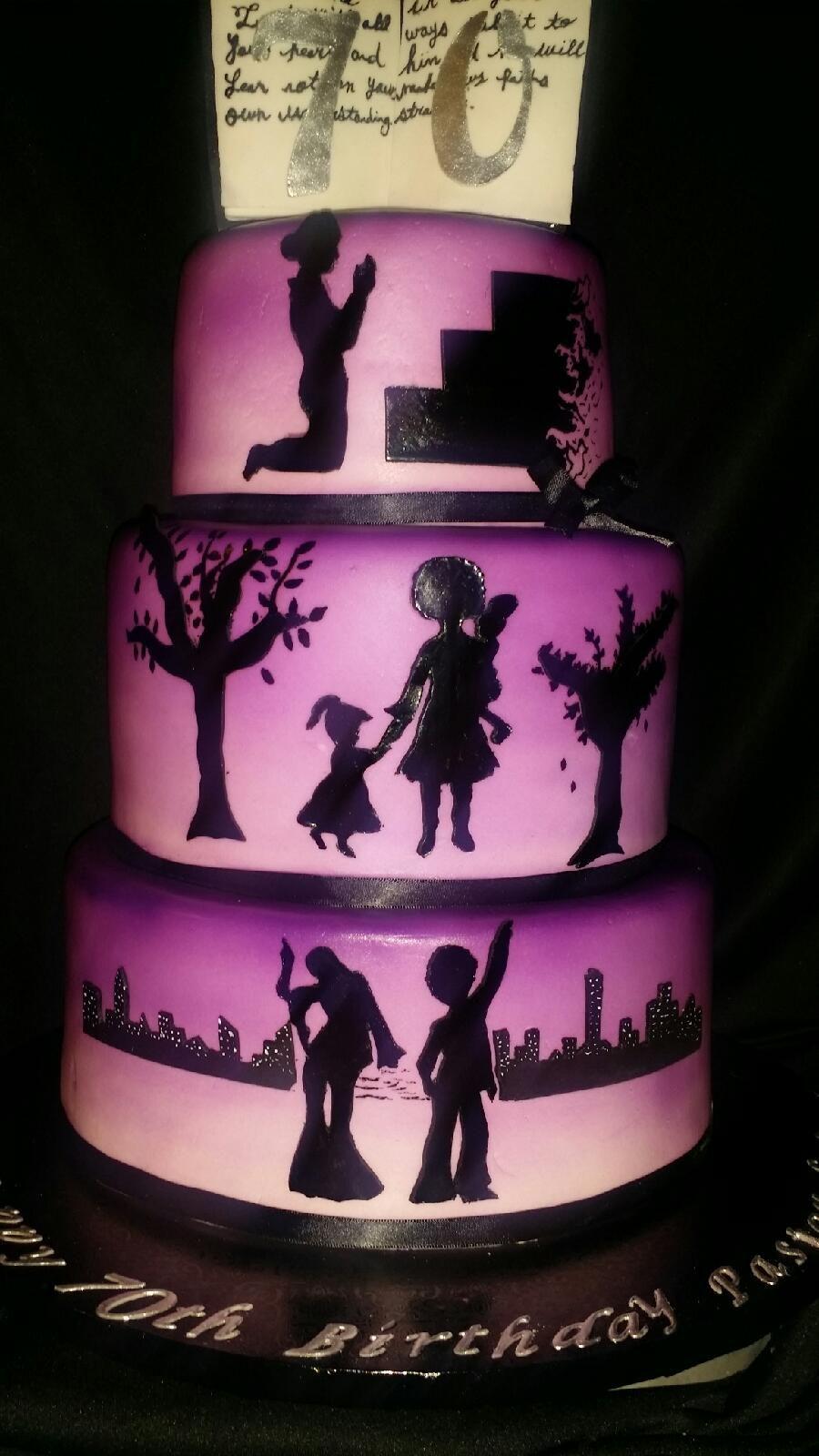 Silhouette Cake CakeCentralcom