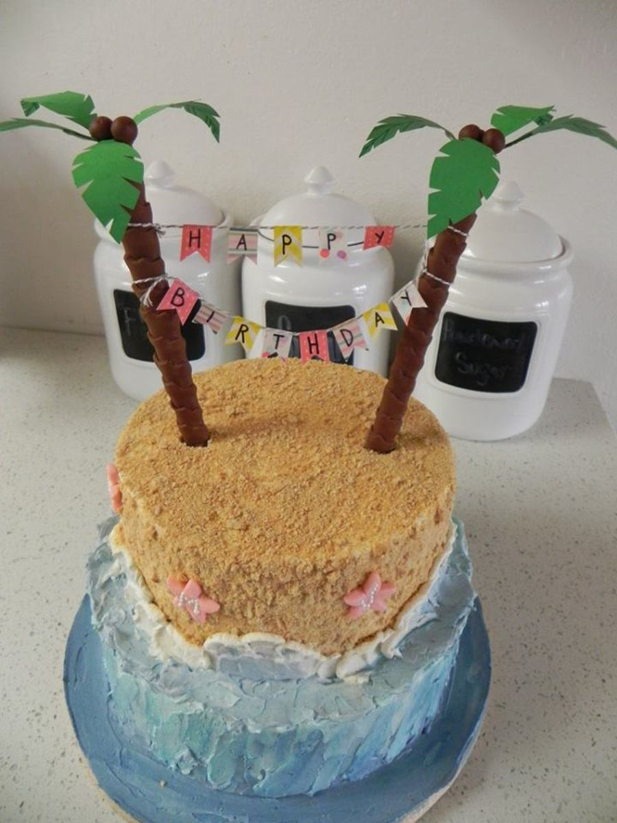 Simple Beach Birthday Cake Cakecentral