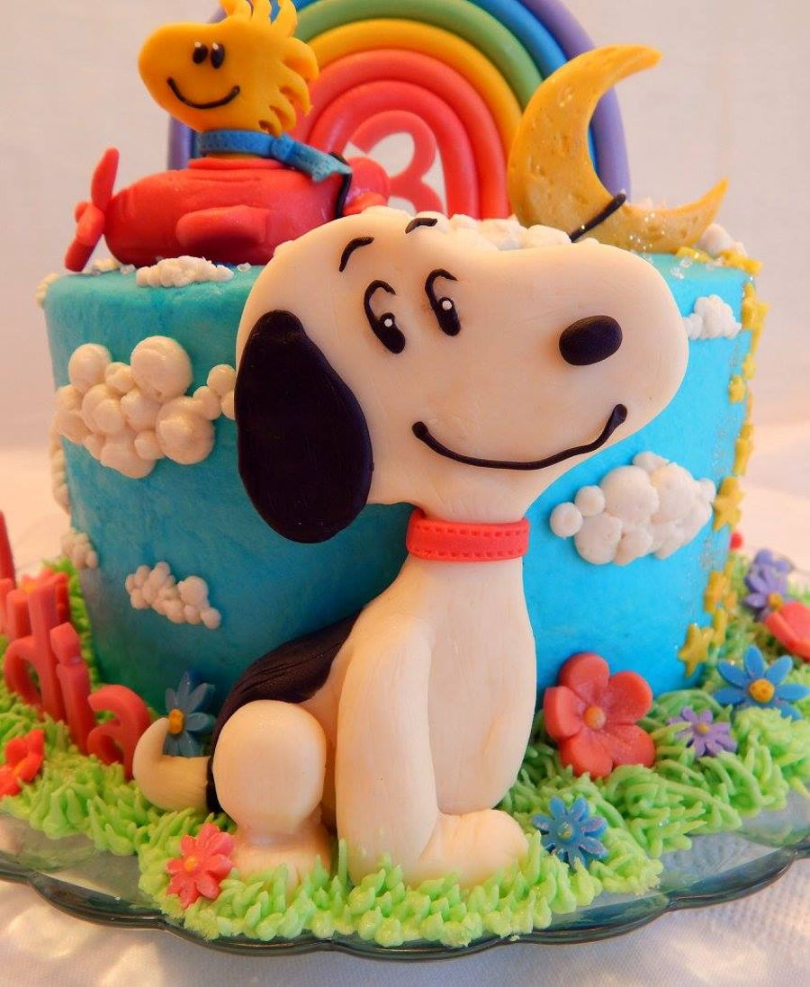 Snoopy And Woodstock Cake CakeCentralcom