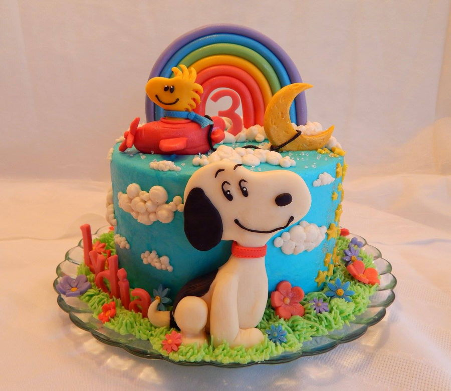 Snoopy And Woodstock Cake Cakecentral