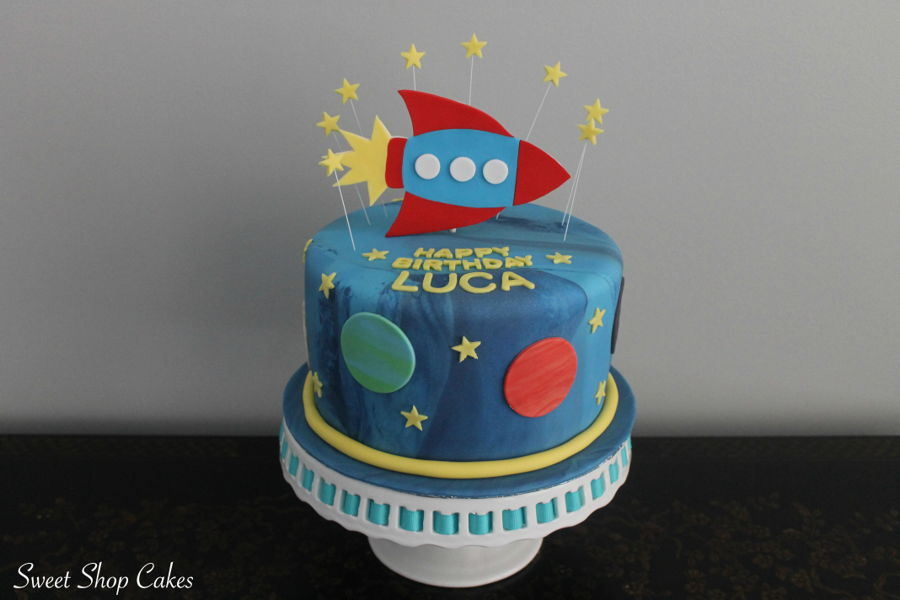 Admirable Space Themed Birthday Cake Cakecentral Com Funny Birthday Cards Online Inifofree Goldxyz