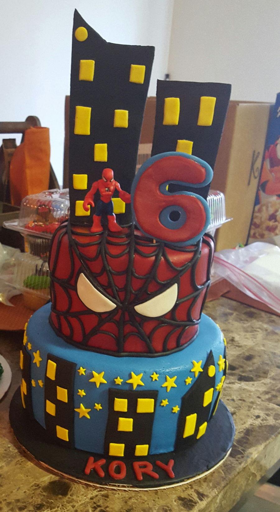 Vanilla Cake Decor : Spiderman Cake - CakeCentral.com