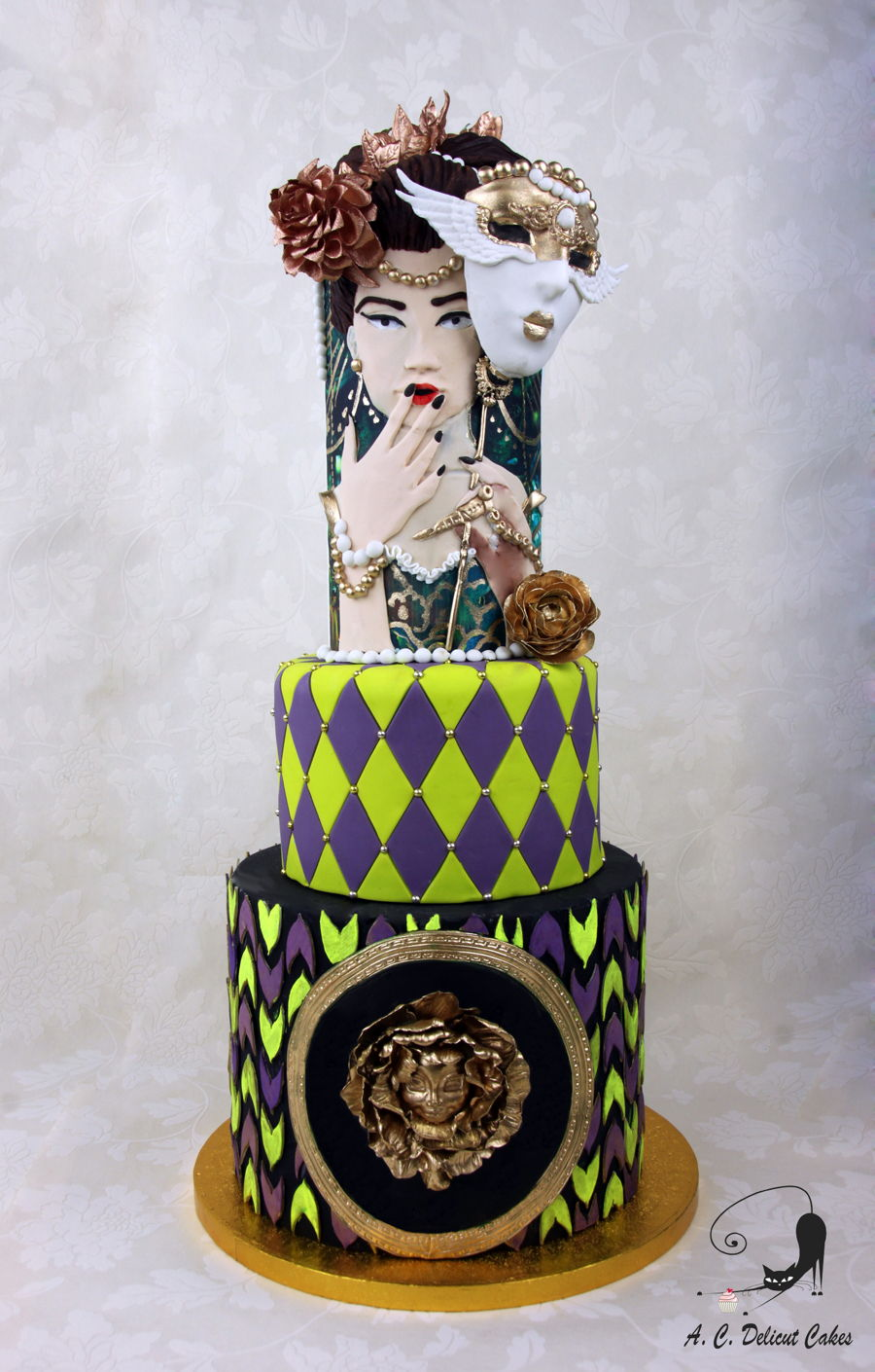 The Woman Behind The Mask on Cake Central