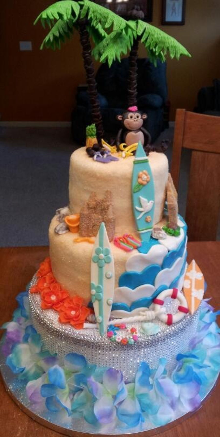 Tropical Beach Theme Birthday Cake Cakecentral Com