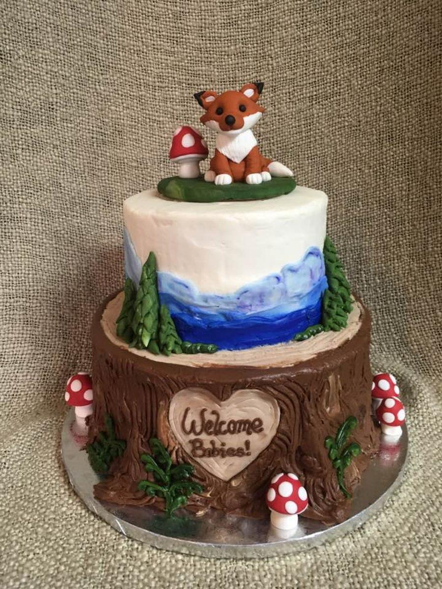 Woodland Animal Baby Shower Cake Cakecentral Com