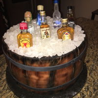 21 And Over fondant and alcohol cake