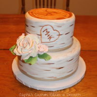 Birch Engagement Cake Engagement cake