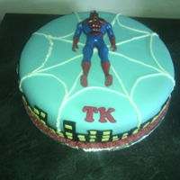 Birthday Cake - Boys Spiderman cake covered with fondant