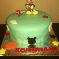Birthday Cake - Boys Vanilla cake with mickey image