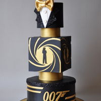 Bond. James Bond. A 007 themed cake for a very stylish young man.