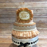 Burlap And Lace The invitations for this baby shower were burlap and lace details and they were accenting with gold throughout the venue. I created the...