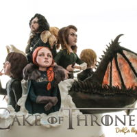 Cake Of Thrones Here it is, my 360-degree cake !! Each character measures about twenty-five cm high, and the cake in total one meter by sixty high !!!! And...
