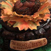 Charlotte The Hedgehog I created this cake for a great artist who created a gift for my son's birthday with a chainsaw! Its a vanilla cake with homemade...