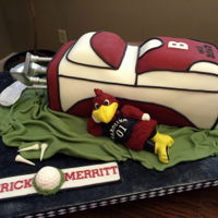 Cocky Groom's Cake Groom's cake for an avid golfer and University of South Carolina Gamecock fan.