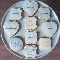 Cookies Cookies #ComeFlyAway #mrandmrs #FollowMe #married #prettyinsugar #prettyinsugarcookies