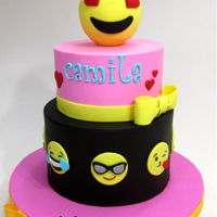 Emoticons Cake For Camila Two tierd cake with emoticons for this teenage girl! Hope you like it! It was fun doing it!