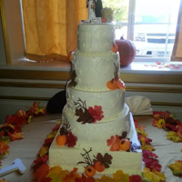 Fall Wedding Cake Tall buttercream wedding cake