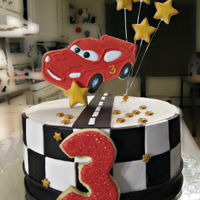 Flash Mcqueen birthday cake