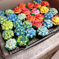 Floral Cupcakes Buttercream