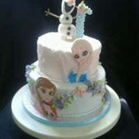 Frozen Themed Cake Two tier Frozen themed Cake