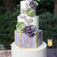 Geometric Modern Wedding Cake This was designed for a stylized photo shoot for Ceremony Magazine blog. I was very excited to do this cake. I had been wanting to make a...