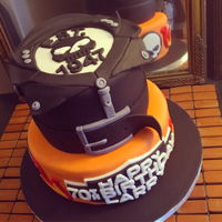 Harley Davidson Birthday Cake Tried a pre coloured orange fondant first. Never again! They quality was terrible and after two attempts, I'll stick to colouring my...