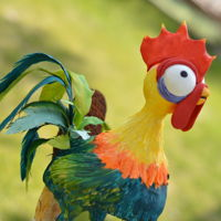 Heihei, Falling Off Maui's Hook, Heart Of Te Fiti, And Moana's Floral Head Band This gravity defying character Heihei from the movie Moana, he was so much fun to make. It was a great learning experience.