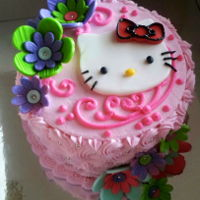 Hello Kitty Fondant buttercream