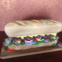 Hoagie For Spring Fling Sub Sandwich for Live Auction at School Fundraiser Gala