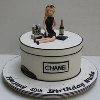 In Love With Chanel Made for a a very fashion conscious young lady and it was a Madeira cake.
