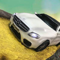 Mercedes Benz Cake Mercedes Benz Cake with lights