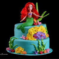 Mermaid Cake Made for my granddaughter's 3rd birthday party.