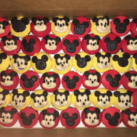 Mickey Mouse Cupcakes Mickey Mouse buttercream cupcakes