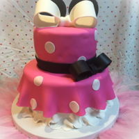 Minnie Mouse First Birthday Minnie Mouse Cake.
