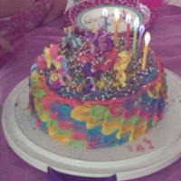 Niece's Mlp Cake 2015 My niece's My Little Pony cake that I made all night the night before her birthday, just to have her mom throw ALL the sprinkles she...