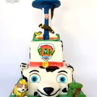 Paw Patrol All handmade fondant decorations:). Thanks for looking! www.facebook.com/whitescustomcakes