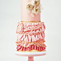 Pink Flapper Cake The cake inspiration started with trying to incorporate textures onto a cake. While these are all 'ruffles', there are many...